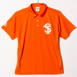 "Dry Silky Polo Shirts ""On the Screw"" Orange"