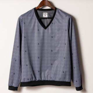 Wind Breaker V-neck Pullover, Glen Check