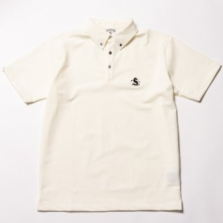 Golf Shirts Buttondown, AloeVera, White