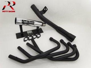 XJ400 E/D 54π 分割式 ガニマタブレット管 ブラック マフラー