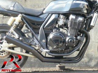 ZRX400/2 〜97 ショート管 ブラック フランジ無 マフラー