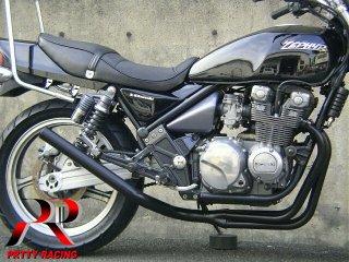 ゼファー400/χ ミドル管 50.8π 黒 マフラー