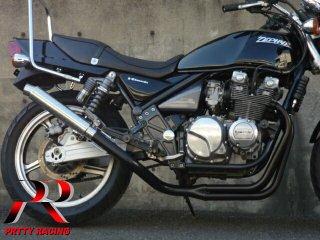 ゼファー400/χ 4-1管 SUSサイレンサー 50.8π 黒 マフラー
