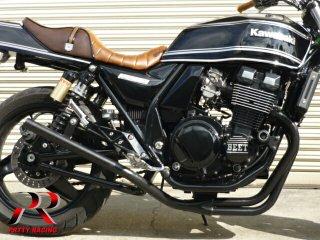 ZRX400/2 98〜 スリム管 42.7π 黒 マフラー