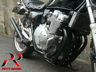 CB400F NC36 ミドル管 50.8π 黒 マフラー