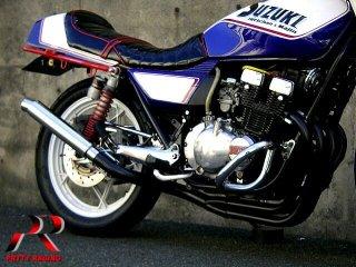 GSX400FS 4-1管 ALサイレンサー 50.8π ブラック マフラー
