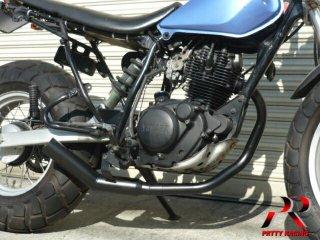 TW200 TW225 ショート管 ブラック マフラー