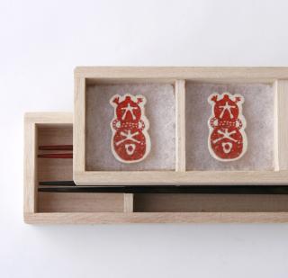 遊印箸置きと夫婦箸セット 大吉瓢箪