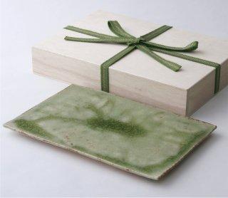 緑伊良保 板皿