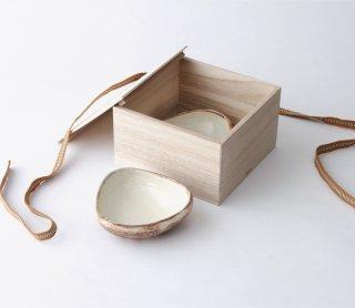 渕荒横彫 三角鉢(SS) 2枚セット