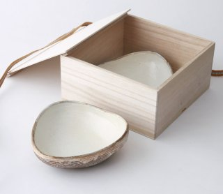 渕荒横彫 三角鉢(S) 2枚セット