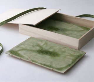 緑伊良保 板皿 2枚セット