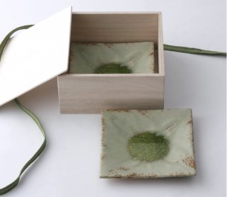 緑伊良保 角皿(中) 2枚セット