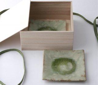緑伊良保 角皿(大) 2枚セット