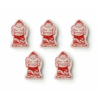 遊印 箸置き 5個と夫婦箸セット お相撲さん五人衆