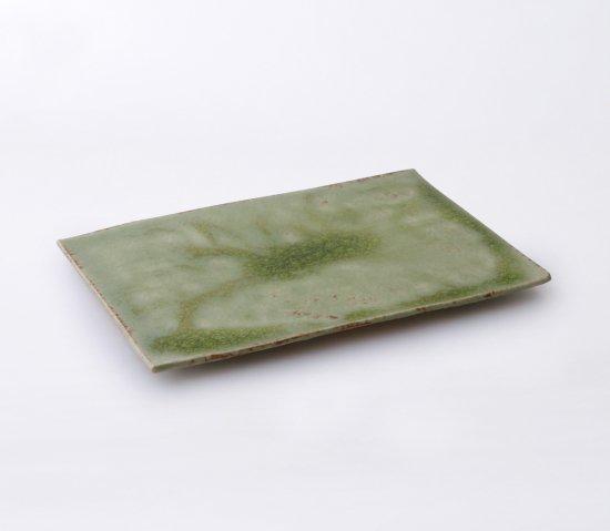 緑伊良保 板皿 桐箱無し