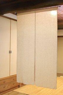 無地染め麻「ベージュ」 縦150cm×横90cm