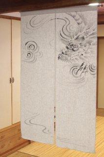 手描き麻「龍」縦150cm×横90cm