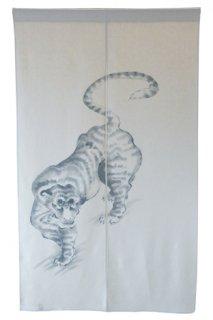 手描き麻「虎」縦150cm×横90cm