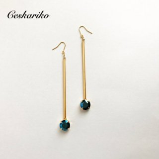 metallicblue〜long pierce(earring)