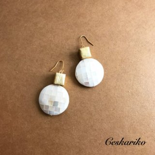 Cube×Shell pierce(earring)