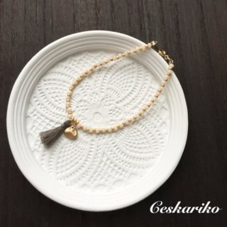 Mini tassel bracelet〜WHITE〜