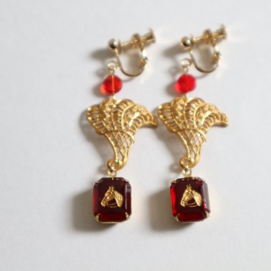 ROYAL ASCOT style earrings(pierce)