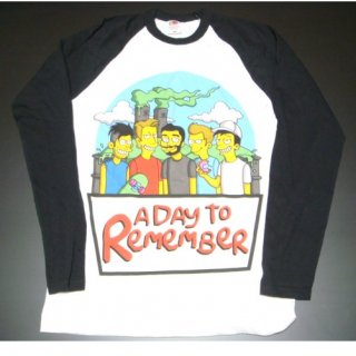 A DAY TO REMEMBER Simpsons WHTBLK, ロングTシャツ