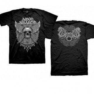 AMON AMARTH Grey Skull, Tシャツ