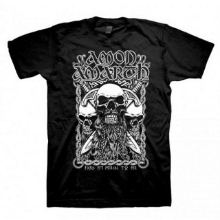 AMON AMARTH Bearded Skull, Tシャツ