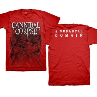 CANNIBAL CORPSE Skeletons - Skeletal Domain Red, Tシャツ