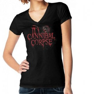 CANNIBAL CORPSE Blood Ghoul, レディースTシャツ