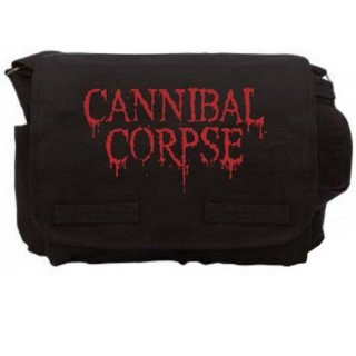 CANNIBAL CORPSE Logo Blk, メッセンジャーバッグ