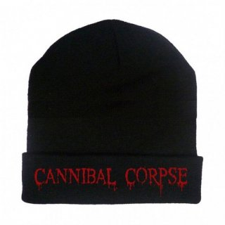 CANNIBAL CORPSE Embroidered Red Logo, ニットキャップ