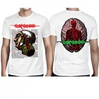 CARCASS Anatomical Head White, Tシャツ