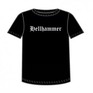HELLHAMMER Old English Logo Only Death is Real, Tシャツ