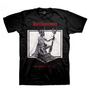 HELLHAMMER Red Logo Apocalyptic Raids, Tシャツ