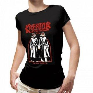 KREATOR Satan is Real, レディースTシャツ