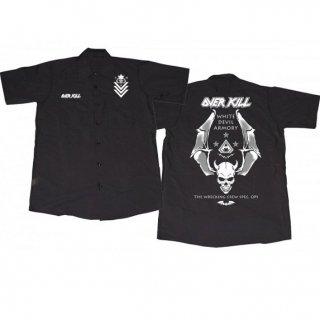 OVERKILL Logo Badge Skull, ワークシャツ