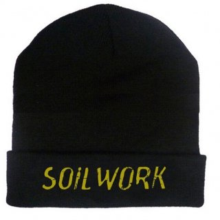 SOILWORK Embroidered Gold Logo 12in, ニットキャップ