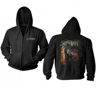 SUFFOCATION Pocket Logo Pinnacle, Zip-Upパーカー