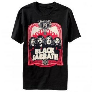BLACK SABBATH Red Flames, Tシャツ
