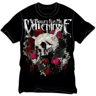 BULLET FOR MY VALENTINE Skull And Roses, Tシャツ
