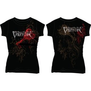 BULLET FOR MY VALENTINE Rnr Pierced Through, レディースTシャツ