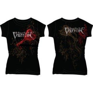BULLET FOR MY VALENTINE Rnr Pierced Through, レディースTシャツ