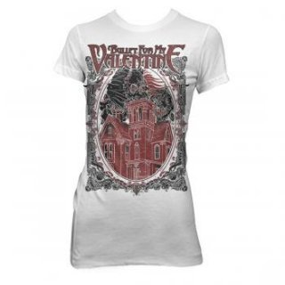 BULLET FOR MY VALENTINE Skull House, レディースTシャツ