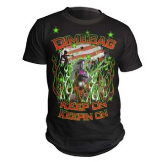 DIMEBAG DARRELL Flags And Stars, Tシャツ