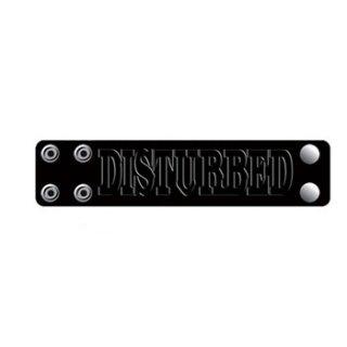 DISTURBED Logo, レザーリストバンド