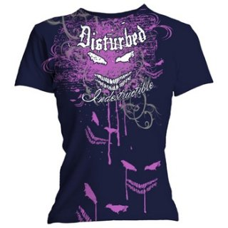 DISTURBED Indestructible Flourish, レディースTシャツ
