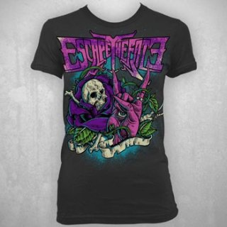 ESCAPE THE FATE Rose Skull, レディースTシャツ